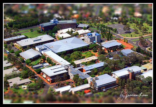 University of Southern Queensland as a miniature model.
