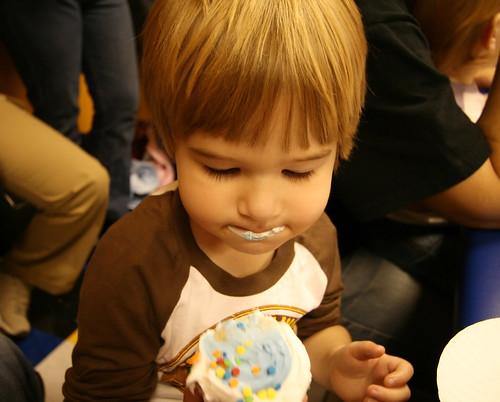 Alex lovin the cupcake 2