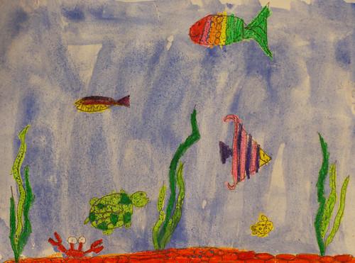 Sara J underwater scene
