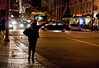 Silhouette of Hailing a Cab (mcsmith86) Tags: sf sanfrancisco woman silhouette hail night cab taxi handheld hailing
