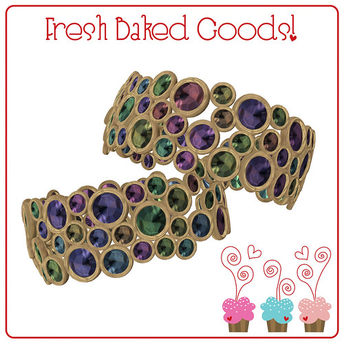 ~*FBG*~ Soft Colored Sugar Thumbprint Cookie Cuffs