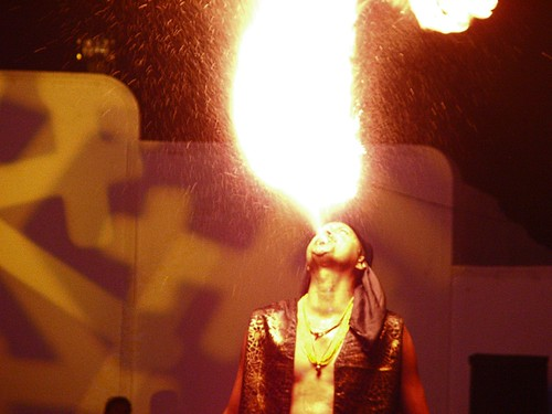 Fire-eater in action