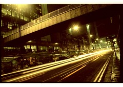 (the dick graysons) Tags: longexposure nightphotography london thecity olympus noflash homedeveloped om2n tetenal colortec ektachromee100g c41385~345secs