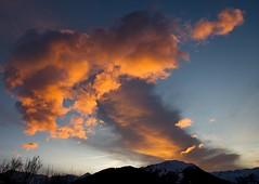 Coucher de soleil sur le Mont Charvin