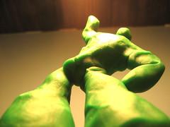 reach for the top (Maʝicdölphin) Tags: macro green canon top powershot clay reach success a590