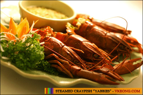steamed crayfish with lime