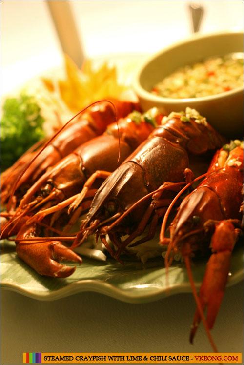 steamed crayfish