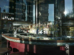 Empty bar in afternoon light