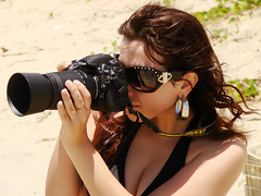 click poser in the beach... di Fernanda Fronza