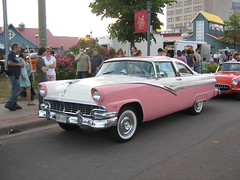 1956 Ford Fairlane Crown Victoria (JarvisEye) Tags: auto show pink canada ford car automobile antique voiture newbrunswick moncton 1956 concours fairlane ancienne marykay crownvictoria atlanticnationals