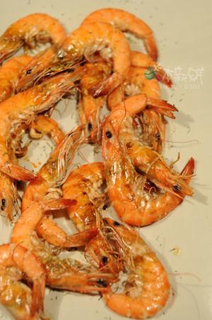 烤盤燒白蝦