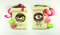 Eye Spy Camera Bag And Buttons -  29dec08