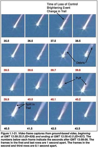 space shuttle columbia evans ben
