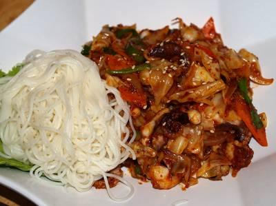 Octopus noodle