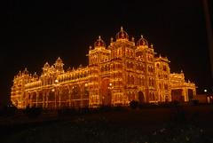Mysore Palace (damps) Tags: light india night king famous royal palace gandhi residence karnataka mysore damp maharaja tippu damps mahathma
