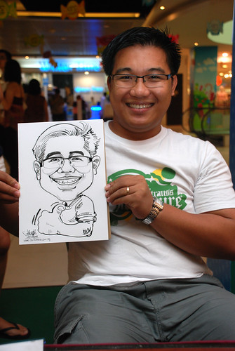 Caricature live sketching for Marina Square Day 2 - 21
