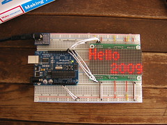Arduino Duemilanove with 32×16 LED Matrix