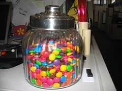 Smarties in Lolly Jar (Moody Waters) Tags: candy lolly candyjar lollyjar