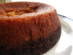 Two-Tone Persimmon Pudding