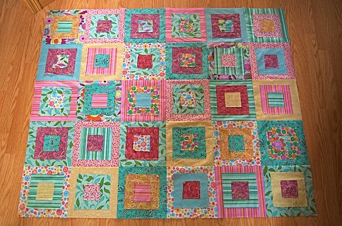 ragged squares quilt top 2