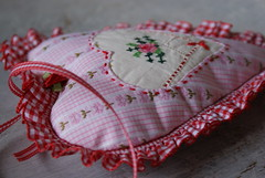 sweet heart (dutch blue) Tags: hearts embroidery valentine gingham