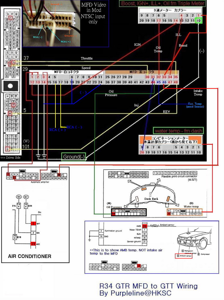 gtr wiring diagram ford 900 wiring diagram r34 gtr mfd unit.. | zerotohundred forums