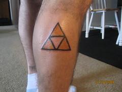 zelda - triforce of wisdom tattoo (jays flickr) Tags: tattoo zelda wisdom legend triforce jde jdeproductions