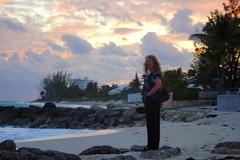 Laura at Sunset on Bahamas