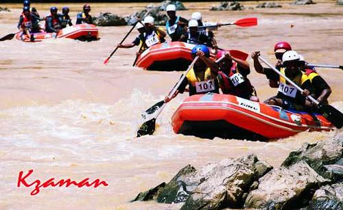 Aktiviti lasak menyusuri sungai nenggiri