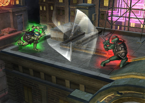 TMNT Smash Up Wii screenshot 1