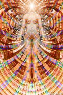 LARRY CARLSON, Celestial Intelligencer, c-print, 65 x 45in., 2011.