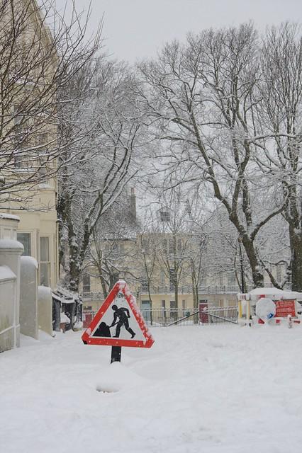 Powis Square Under Snow