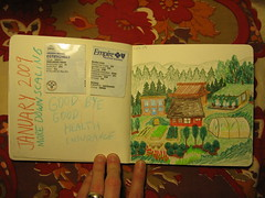 health insurance - and village drawing