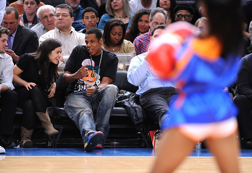 jay-z courtside at a nba game