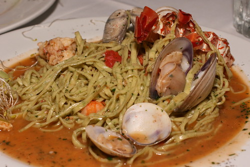 tagliorini with lobster clams and shrimp
