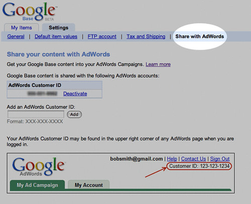 google base and adwords