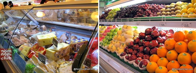 Cheeses and Fresh Fruits
