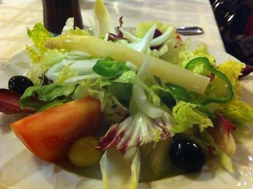 Sant Fruitós de Bages | Les Brucardes | Ensalada catalana (los embutidos iban en plato aparte)