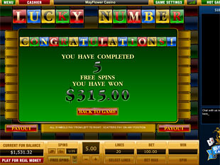 free Lucky Number slot game free spins win