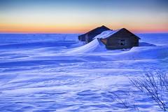 Dunes on the Prairie (John Andersen (JPAndersen images)) Tags: longexposure sunset abandoned night alberta bluehour drifts hdr hoodoos paririe beiseker leefilter