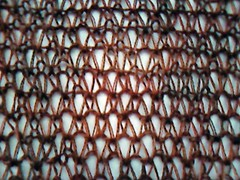 Slip stitch weave, unblocked