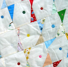 button quilt detail