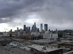 Los Angeles Skyline in the rain