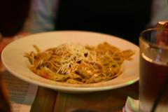 Pesto Shrimp fettucini alfredo