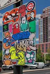 Mad City Slapz (damonabnormal) Tags: streetart graffiti mono nikon sticker underwater pirates stickers may bob urbanart dash philly slap wtf 2008 phl ronaldreagan bobwillreign combo 215 uwp ticky philadlephia citystickers d80 thegipper billikid crime169 billykidbrand e5charlie shinex tickytock vedo1 c169