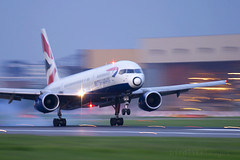British Airways Boeing 757 landing at London Heathrow Airport UK (Greg Bajor) Tags: uk london airport heathrow landing british boeing airways 757 gregbajor