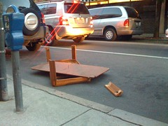 Not really sure what the story is here (gruber) Tags: broken tables iphonecamera