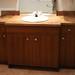 Trois salles de bains en mélamine