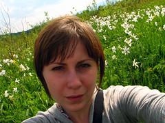 Between flowers (K_Liff) Tags: flower green me field ukraine valley narcissus khust zakarpattia ksenilina