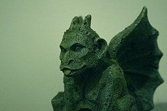 Gargoyle (Rwilliams718) Tags: green stone closeup bokeh gargoyle flyingmonkey